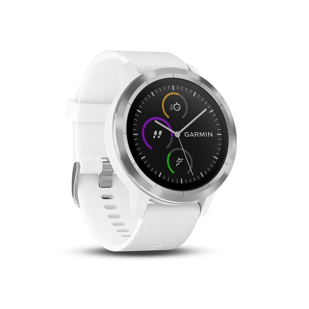 GARMIN - Smartwatch GARMIN Vivoactive 3 1,2 GPS Waterproof 5 ATM Glonass White Stainless steel (Renewed)