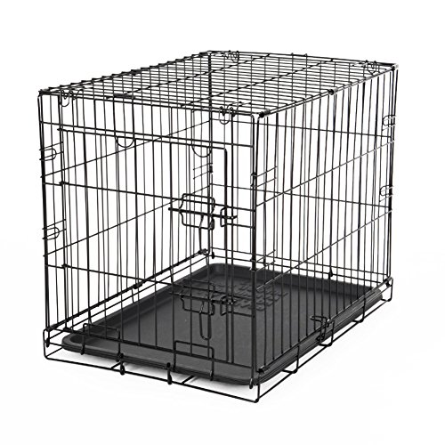 Single Pet Cage,Detachable Folding Dog Crate Small Dog Cage With Toilet Tray Dog Houses Black Dog Cage
