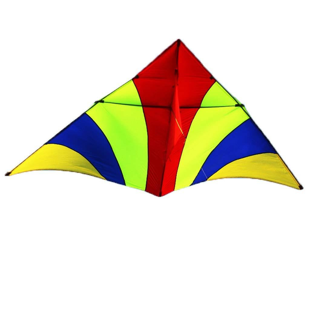 屋外の凧、大きく多彩な三角形の凧公園の大人の滑らかな初心者の飛行おもちゃ、270 * 150CM (色 : A) B07RLLS47N A