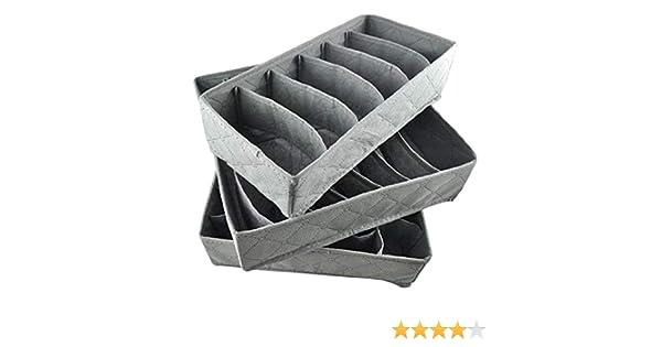 Newin Star 3pcs / Set de carbón de bambú Plegable del cajón ...