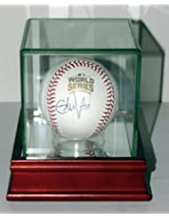 Eddie Vedder Signed Chicago Cubs 2016 OML World Series Baseball - Beckett Authentication Services BAS COA - Includes Glass Display Case