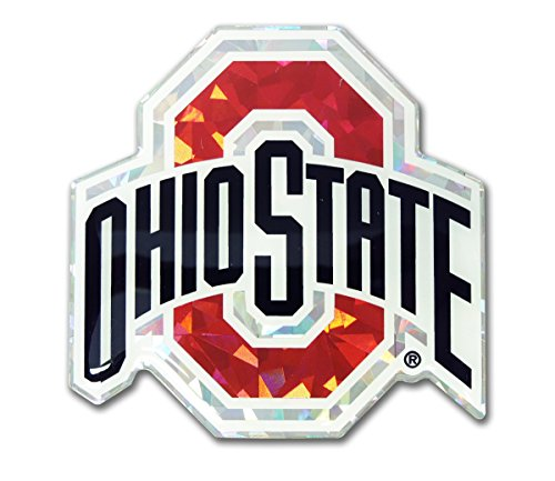 Ohio State Buckeyes Color Reflective 3D Decal Domed Auto Sticker Emblem