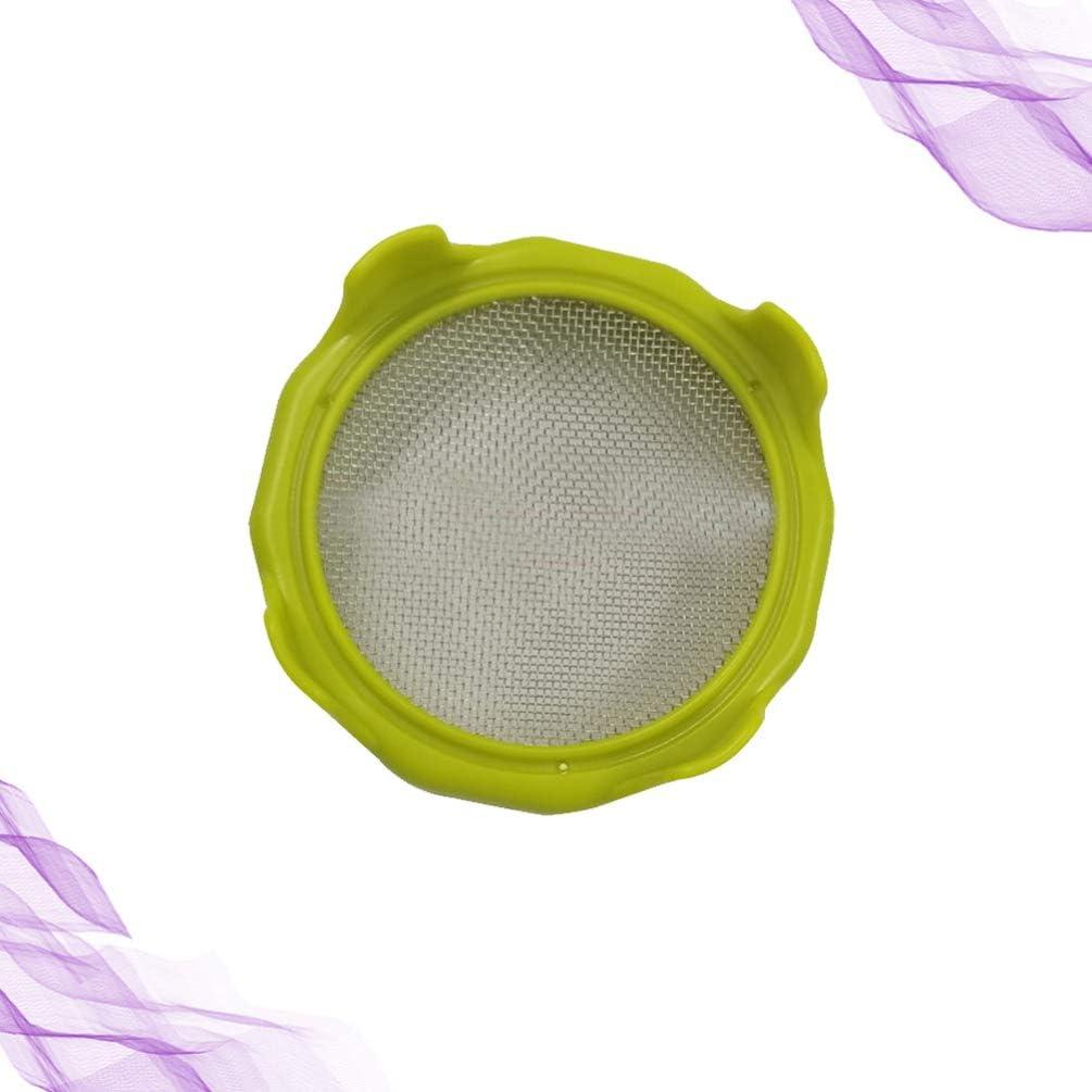 Hemoton Sprossen Deckel Sprossengl/äser Deckel Edelstahl Sieb f/ür Einmachglas Dosen Wachsende Spr/össlingen Samen Sojabohnensprossen Alfalfa Gelb