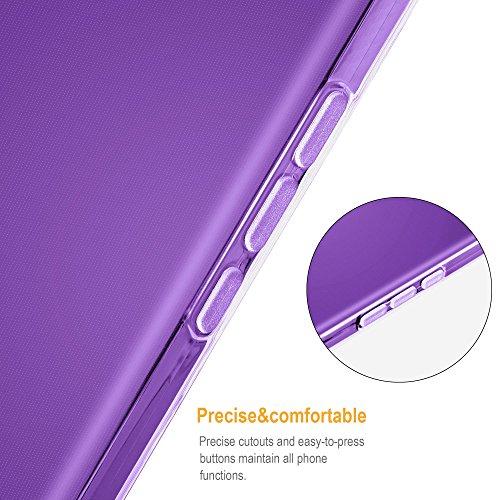 Cadorabo - Vodafone Smart ULTRA 6 Cubierta protectora de silicona TPU en diseño AIR - Case Cover Funda Carcasa Protección en TRANSPARENTE-LILA TRANSPARENTE-LILA