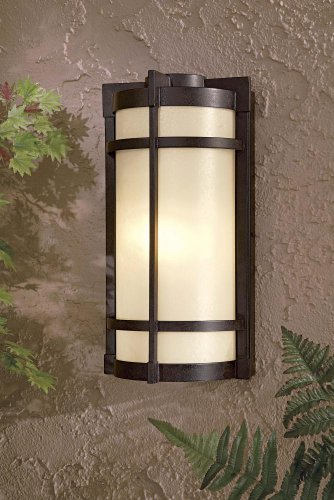 Minka Lavery Outdoor Wall Light 72021-A179-PL Mirador Exterior Pocket Sconce Lantern, 26w Fluorescent, Bronze