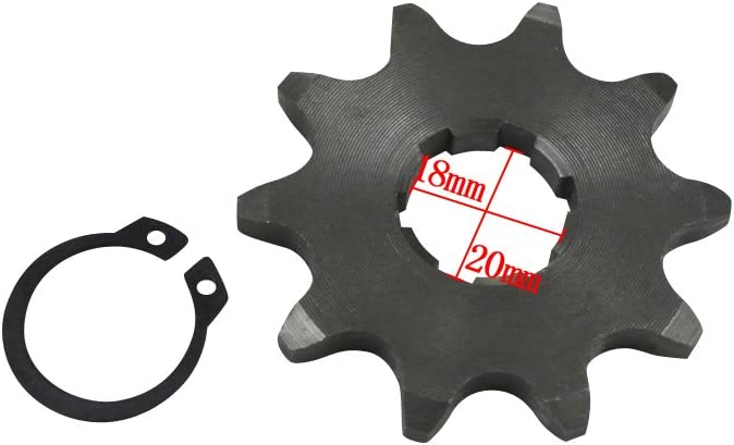 G/én/érique Pignon avant Pour Yamaha Moto Dirt Bike VTT Quad 520 Dirt bike // Pit bike // Mini Moto 10-16 Dents /ø20mm