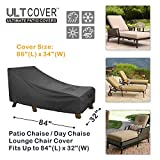 ULTCOVER Waterproof Patio Lounge Chair Cover Heavy