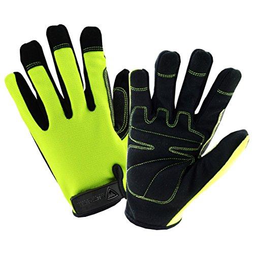 Lining M-65 (West Chester HVG86150 M Hi-Vis High Dexterity Glove, Medium, Green Black)