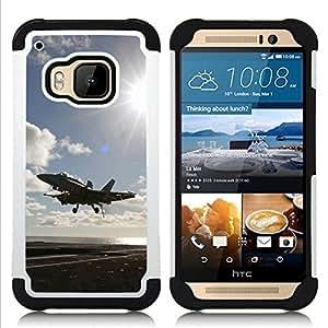 - Fly fighter up/ H??brido 3in1 Deluxe Impreso duro Soft Alto Impacto caja de la armadura Defender - SHIMIN CAO - For HTC ONE M9