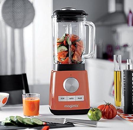 Magimix Le Blender Batidora de vaso 1.8L 1200W Naranja - Licuadora (1,8 L, 15000 RPM, Batidora de vaso, Naranja, Vidrio, 1200 W): Amazon.es: Hogar
