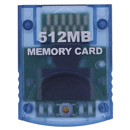 Gyswshh Memory Card,Video Gam Card,Professional 512MB for Nintendo Wii Gamecube Console Blue