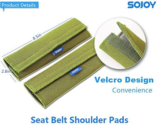 Green Green and Gray Sojoy Car Seat Belt Shoulder Pads Covers Cushion