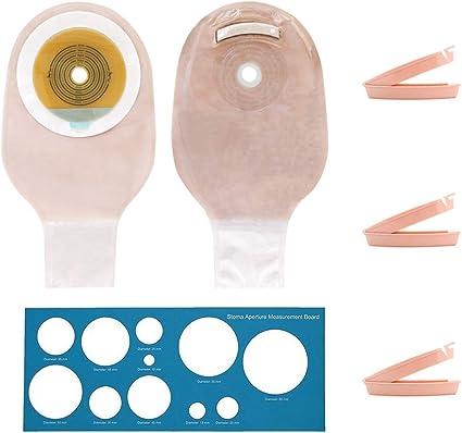 Amazon.com: Ostomy Bags - Bolsas de ostomía con cierre para ...