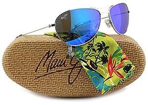 Amazon.com: Maui Jim B245-17 Baby Beach Sunglasses Silver