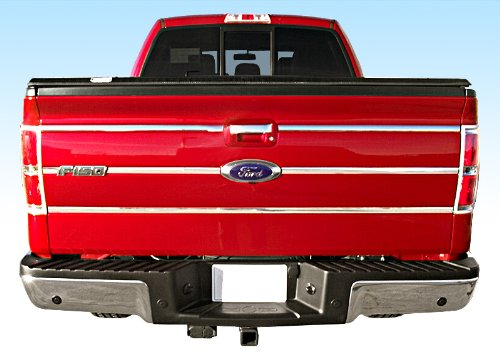 Pickup Stainless Pillar Posts - Made in USA! Works with 09-2014 Ford F150 Pickup Tailgate Insert Chrome Stainless Steel Trim Molding Moulding 1