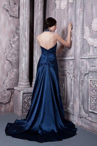 attraktive Blau GEORGE neue Halfter Abendkleid faszinieren Reizvolle BRIDE lange BOqP6