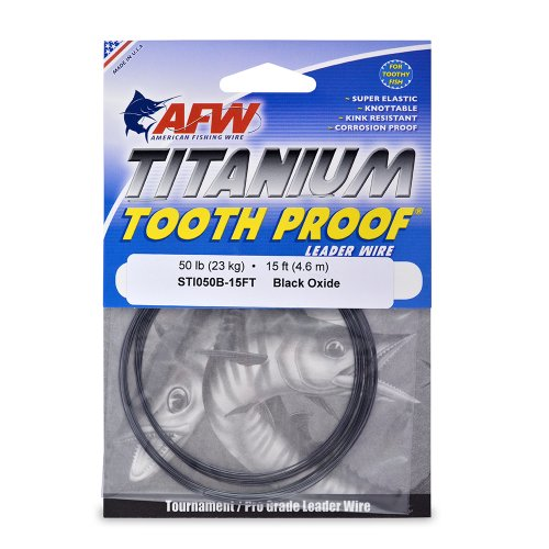 American Fishing Wire Titanium Tooth Proof Single Strand Leader Wire