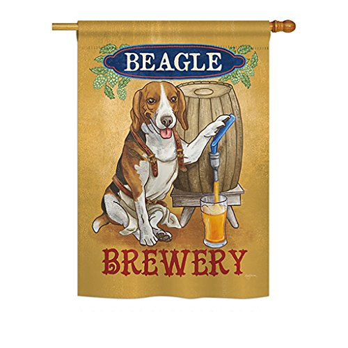 Breeze Decor - Beagle Brewery Nature - Everyday Pets Impressions Decorative Vertical House Flag 28