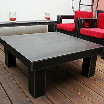 Artisan Table Basse Industrielle Acier Brut Verni Dimensions