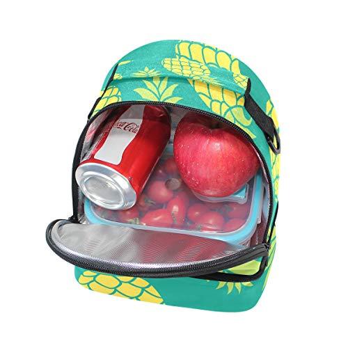 pincnic de correa de ajustable hombro escuela de para el patrón Bolsa con aislante para con piña la almuerzo Alinlo 5TzpUwOxnq