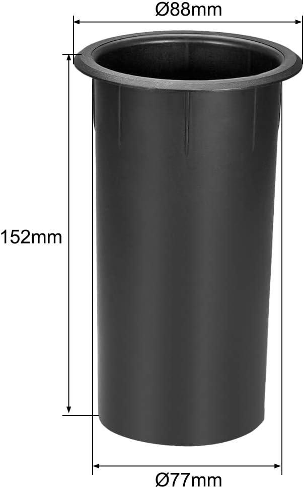 uxcell 77mm x 152mm Speaker Port Tube Subwoofer Bass Reflex Tube Bass Woofer Box 2pcs