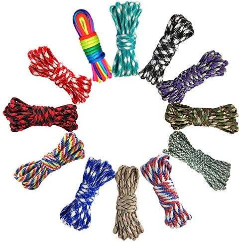 100M Parachute Cord Roll 550 Type Paracord Lanyard Rope 9 Strand Cores Outdoor Rescue Tent Hiking Rope Roll Parachute Cord