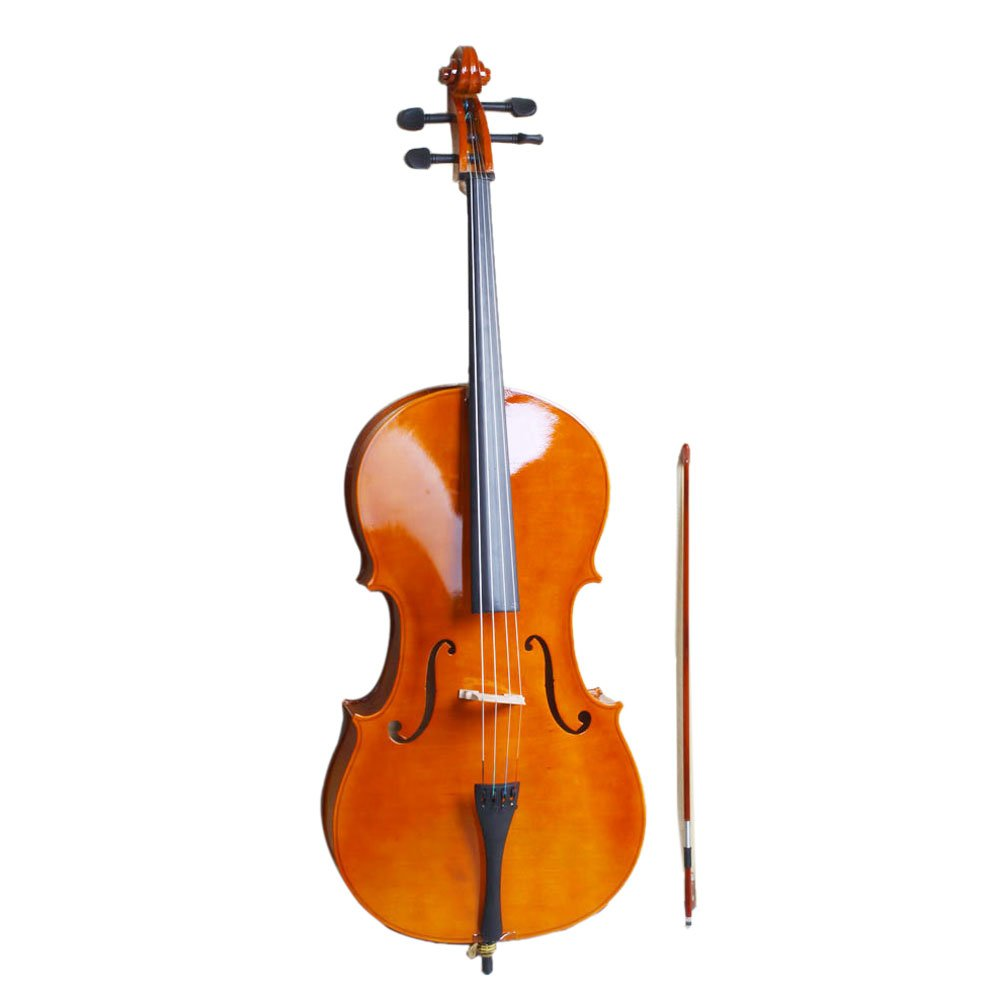 Festnight- 4/4 Wood Cello Full Size Cello with Carrying Bag,Bow,Rosin,Bridge for Violin Beginner Student/Boys/Girls/Junior/Adult/Children/Youth/Professional Natural Color