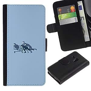 JackGot ( Shopping Cart Bobby ) Samsung Galaxy S3 MINI 8190 (NOT S3) la tarjeta de Crédito Slots PU Funda de cuero Monedero caso cubierta de piel