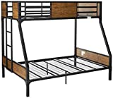24/7 Shop at Home 247SHOPATHOME IDF-BK029TF Bunk Bed, Twin Over Full, Black