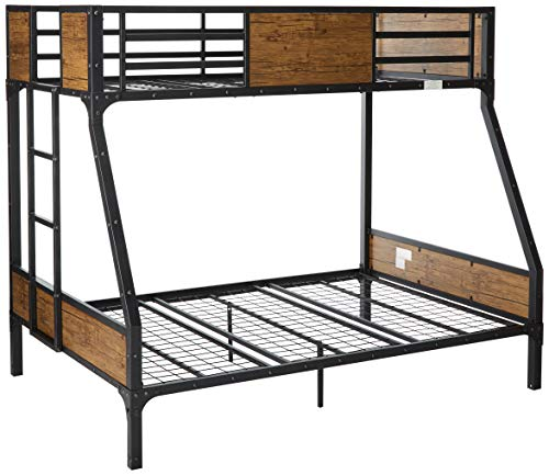 (24/7 Shop at Home 247SHOPATHOME IDF-BK029TF Bunk Bed, Twin Over Full,)