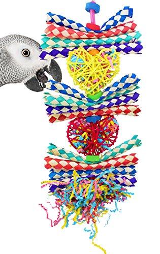 Bonka Bird Toys 1042 Duo Foraging Heart Bird Toy