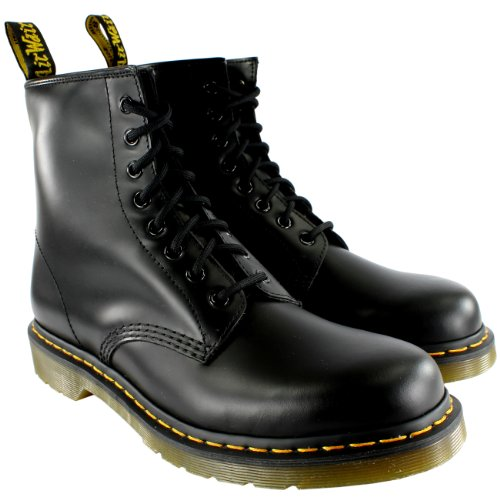 Dr. Martens Mens Classic Retro Vintage Leather Lace Up Ankle Boots - Black - 11