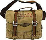 Military Vintage Canvas Messenger Bag Army Messenger Heavy Weight Bag