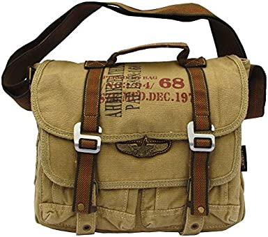 Military Vintage Canvas Messenger Bag Army Messenger Heavy Weight Bag f3159298ddc