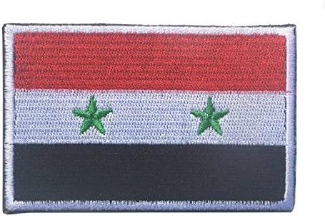 Siria bandera parche Hook y Loop Velcro bordado táctico: Amazon.es: Juguetes y juegos