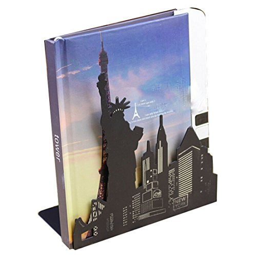 Winterworm One Pair Fashion Modern European American Architecture Landmark Theme Style Thickening Iron Library School Metal Bookends Book End Perfect Mother's Day Gift (New York Statue Of Liberty) Photo #10