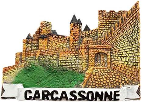 Weekinglo Souvenir Imán de Nevera Carcassonne Francia 3D Resina Artesanía Hecha A Mano Turista Recorrido de Recuerdos de la Ciudad Carta de Colección Refrigerador Etiqueta: Amazon.es: Hogar