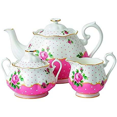 Royal Doulton 3 Piece New Country Roses Tea Party Cheeky Set Pink