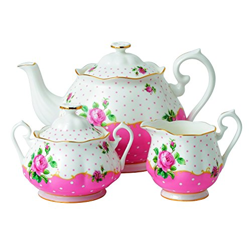 Royal Doulton 3-Piece New Country Roses Tea Party Cheeky  Set, Pink