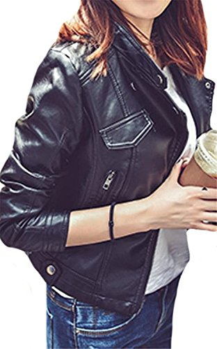 maxi dress and moto jacket - 5