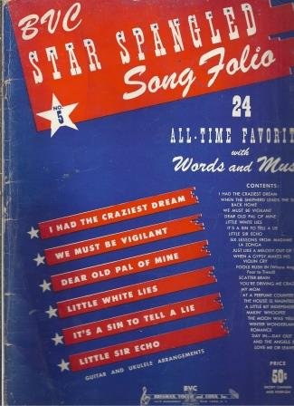 BVC Star Spangled Song Folio