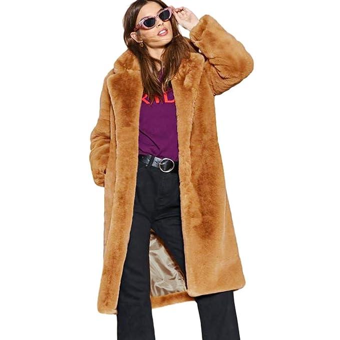 41416fd982 Donne-Mondo Cappotto Donna Invernale, 2018 Moda Donna Lunga Giacca  Pelliccia Sintetica Donna Cappotto Invernale, Cappotti Donna Lunghi:  Amazon.it: ...