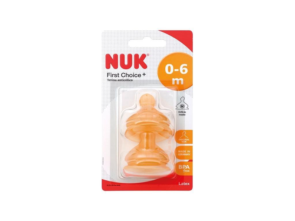 NUK TETINA NUK FC 1 M LATEX 2 U