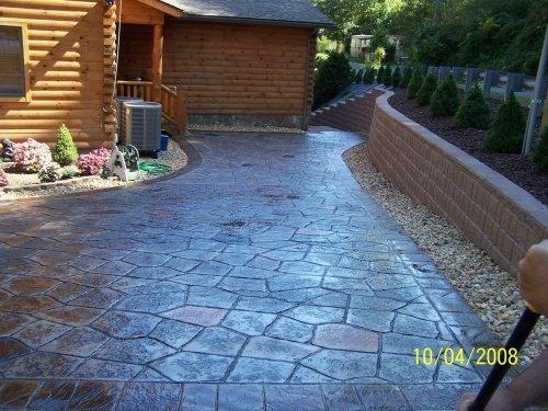 Varied Slate Tile Border Decorative Concrete Stamping Roller Set