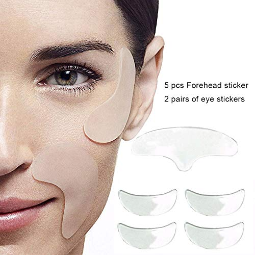 Yiwa Women Eye Face Pad Reusable Silicone Invisible Face Pad Anti Wrinkle Anti-aging Eliminate Prevent Face Wrinkle