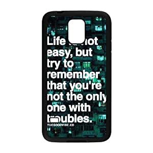 Quotes Brand New Cover Case for SamSung Galaxy S5 I9600,diy case cover ygtg528372 hjbrhga1544