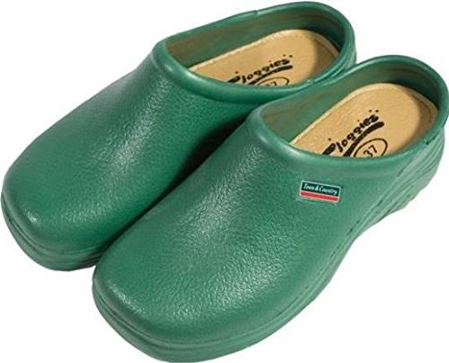 Town & Country Classic Cushioned Cloggies Garden Shoes in Green | Size 7