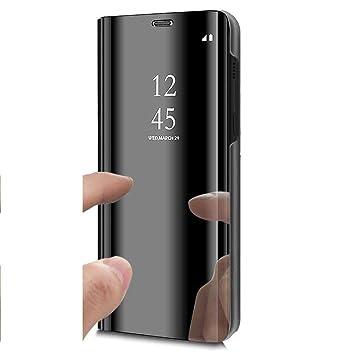 c38e9e16c31 Uposao Espejo Enchapado Flip Cover Funda Samsung Galaxy S7 Edge Carcasa  Libro de Cuero PU Premium ...
