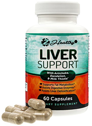 Liver Cleanse & Detox Support Supplement | Natural Detoxifier Blend with Milk Thistle + Turmeric + Ginger + Artichoke Extract + Beet Root + Zinc + Choline + Grape Seed + Celery Seed + (Cleanse Milk)