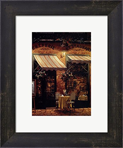Evening of Romance by Viktor Shvaiko Framed Art Print Wall Picture, Espresso Brown Frame, 10 x 12 ()
